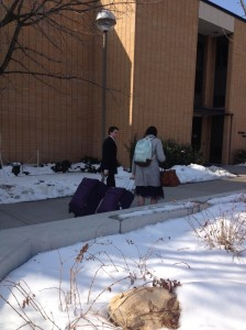 Walking off to the MTC
