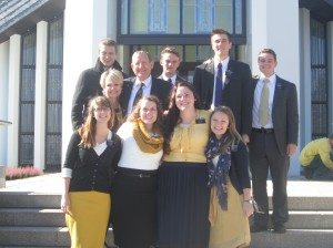 Dresden missionaries at the Freiberg temple.